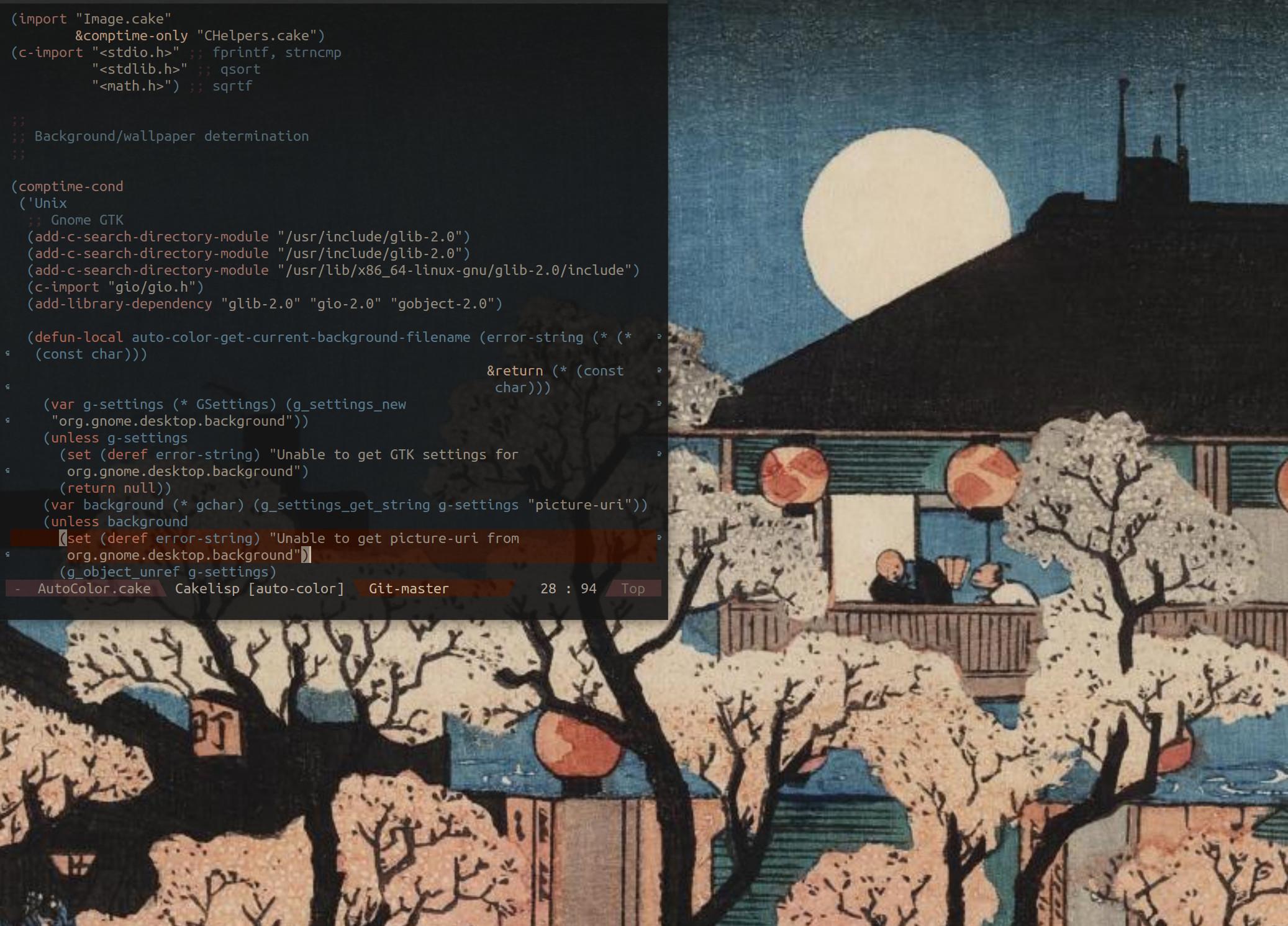 Emacs color